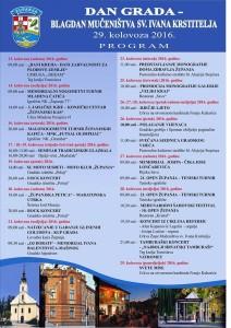 Program dan grada Županje 2016.